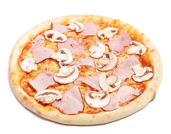 Піца з шинкою та грибами