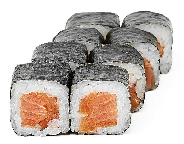 Хосомакі з копченим лососем